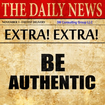 be authentic, newspaper article text